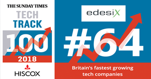edesix has been placed 64th in this years Sunday Times Hiscox Tech Track 100.